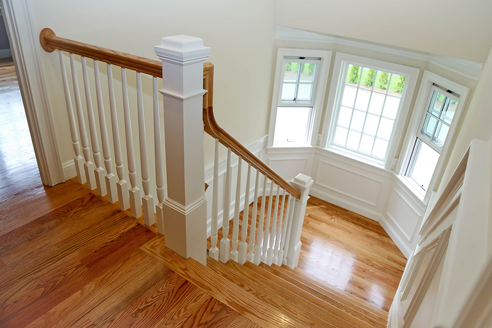 second floor landing and staircase