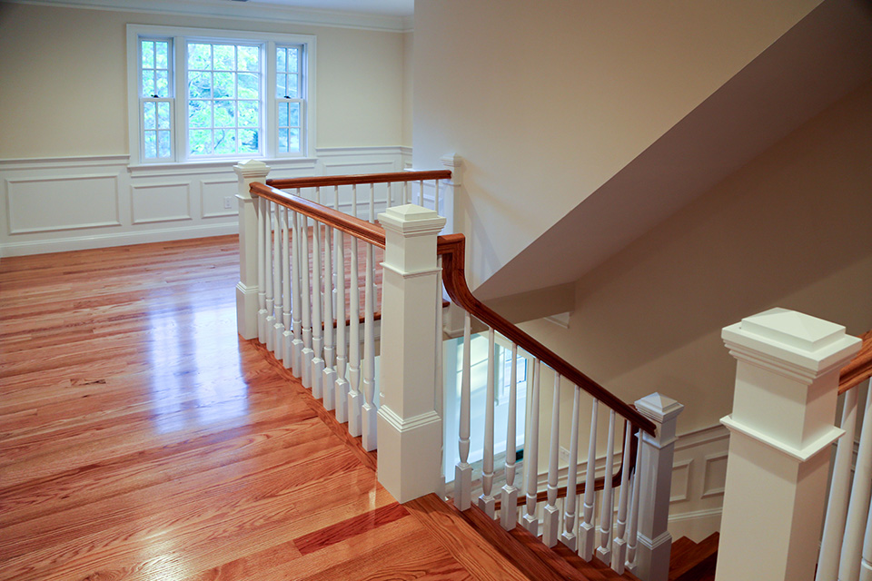 second floor landing with staircase